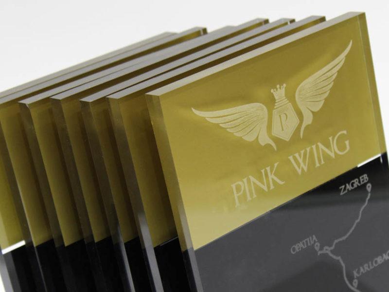 Pink wing